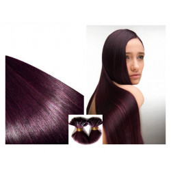 Extensions à chaud prunes cheveux raides 50 cm