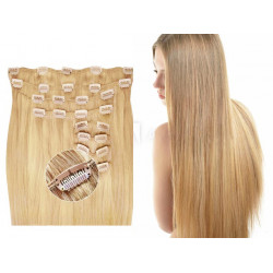 Extensions à clips blondes volume luxe 180 Gr. Cheveux raides 63 cm