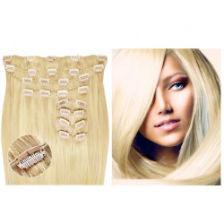 Extensions à clips blond clair volume luxe 180 Gr. Cheveux raides 63 cm