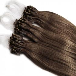 Extensions à loops châtain noisette cheveux raides 48 cm 0.85 Gr