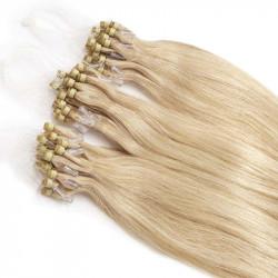 Extensions à loops blond clair cheveux raides 48 cm 0.85 Gr