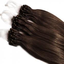 Extensions à loops chocolat cheveux raides 48 cm 1 Gr
