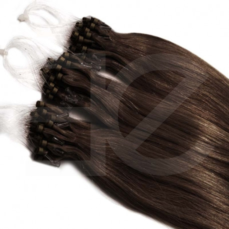 Extension cheveu naturel chocolat n°4 loop 48 cm 1 Gr