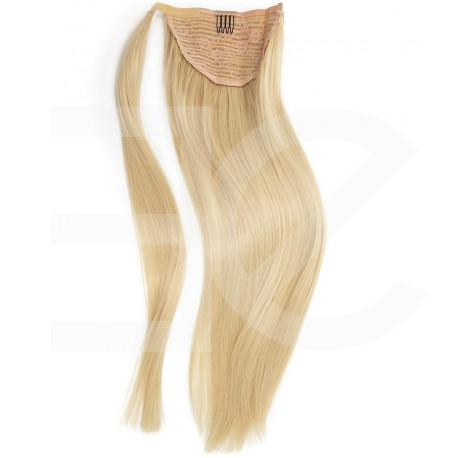 Ponytail Remy hair blond cendré 50 cm