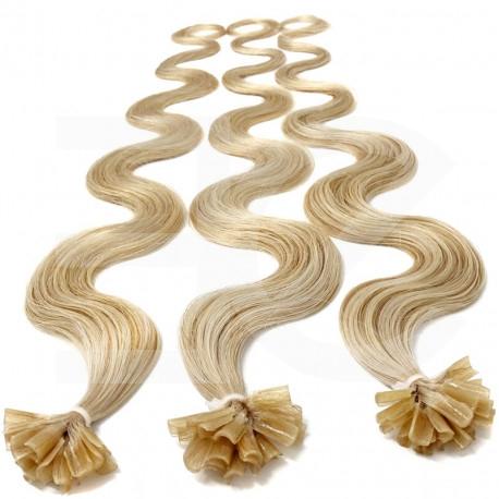 Extensions cheveux 100% naturels à chaud 63 cm Bouclé/ondulé